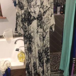 Low cut mid length dress
